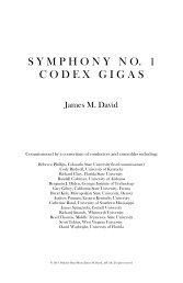Symphony no. 1: Codex Gigas