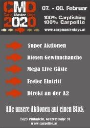 Carp Master Days 2020 - Aktionen