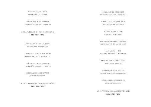 menu DE