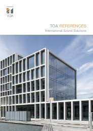 TOA REFERENCES  - International Sound Solutions