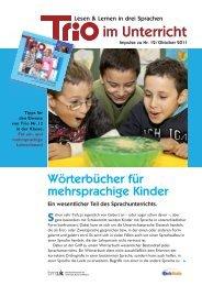 Trio 12 im Unterricht - schule-mehrsprachig