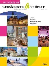 Gastgeberverzeichnis Wernigerode Schierke 2020