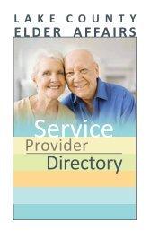 Lake County Elder Affairs Service Provider Directory