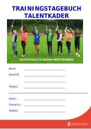 Trainingstagebuch Leichtathletik Baden-Württemberg 2020