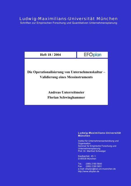 Institut für Marktorientierte Unternehmensführung - Ludwig ...