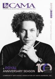 Friday, February 14, 2020—Sérgio & Odair Assad, guitarists—CAMA's Masterseries at The Lobero Theatre—Santa Barbara, California—Program Book