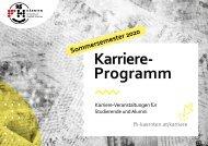Karriereprogramm für das Sommersemester 2020