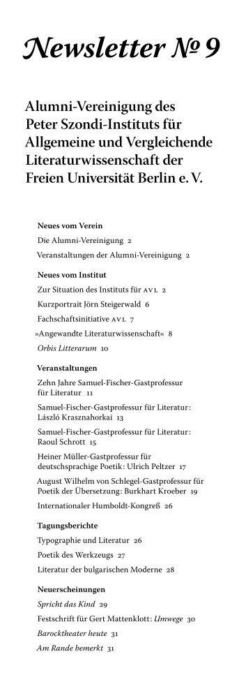 Newsletter № 9 - Fachbereich Philosophie und ...