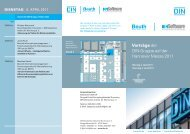 Vorträge der DIN-Gruppe auf der Hannover Messe ... - Transfer-Allianz