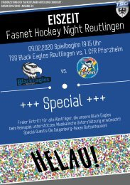 TSG Black Eagles vs. Bisons Pforzheim 09 02 2020
