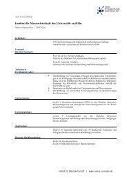 Auf einen Blick: Institut für Messewirtschaft und Distributionsforschung
