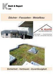 Dächer - Fassaden - Metallbau - Klute Bedachungen