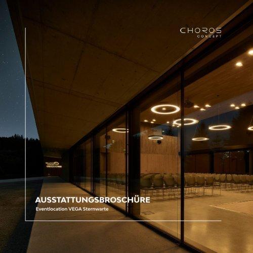 Ausstattungsbroschüre der Eventlocation VEGA Sternwarte Salzburg