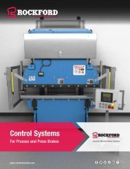 Rockford Systems Control Systems for Presses Catalog
