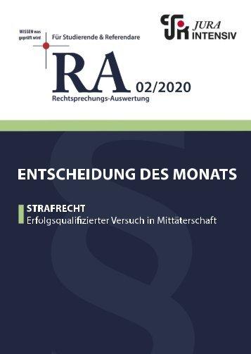 RA 02/2020 - Entscheidung des Monats