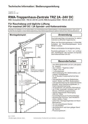 Treppenhaus technische zeichnung  JEt-treppenraum-24V- RWA-SEt - JET-Gruppe