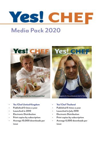 Yes! Chef Magazine United Kingdom Media Pack