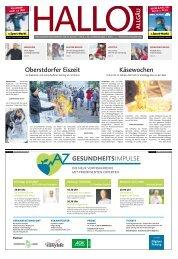 Hallo-Allgäu Kempten, Oberallgäu, Westallgäu vom Samstag, 08.Februar