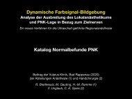 Katalog Normalbefunde Ausbreitung nach PNK Anlage