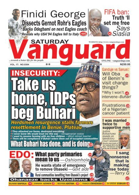 08022020 - INSECURITY : Take us home IDP's beg Buhari