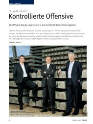 FINANCE Magazin Private Equity: Kontrollierte Offensive - Syncap