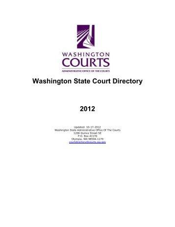 Washington State Court Directory 2012
