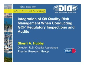 Integration of Q9 Quality Risk g y Management ... - Premier Research
