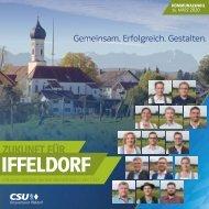 Gemeinsam. Erfolgreich. Gestalten. CSU Iffeldorf Kandidatenprospekt