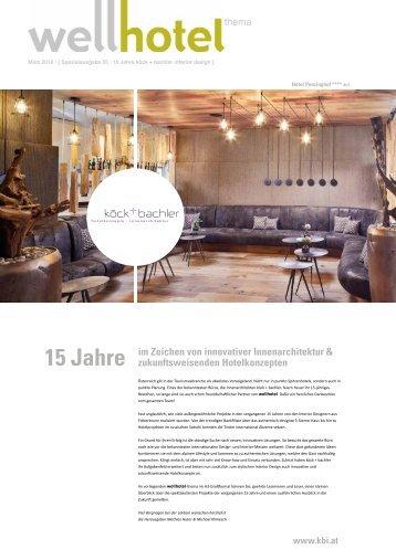 wellhotel Sonderheft köck+bachler interior design