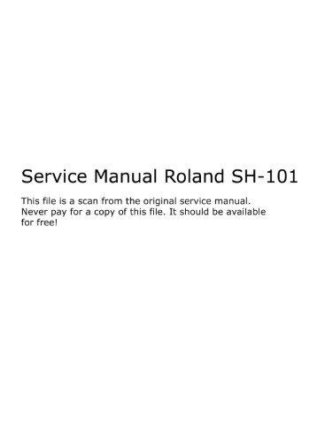Roland SH101 Service Manual.pdf - Fdiskc