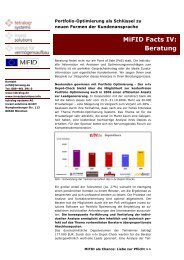 MiFID Facts IV: Beratung - tetralog systems AG