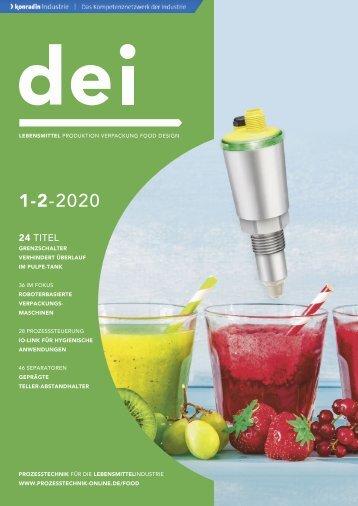 dei – Prozesstechnik für die Lebensmittelindustrie 02.2020
