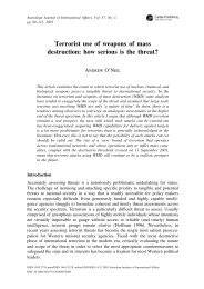 Terrorist use of weapons of mass destruction: how serious is the ...