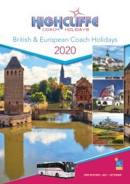 Highcliffe Coach Holidays 2020 - 2nd Edition - July to October