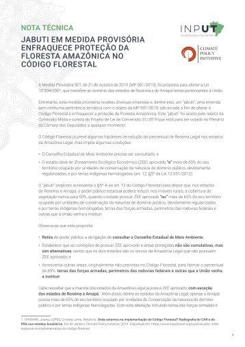 Jabuti em medida provisória enfraquece a proteção da Floresta Amazônica no Código Florestal