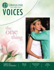 Voices, Summer 2012 - Ursuline Academy