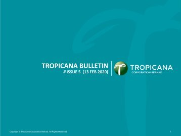 Tropicana Bulletin Issue 5, 2020