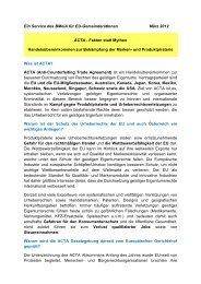 Ein Service des BMeiA für EU-GemeinderätInnen März 2012 ACTA ...