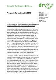 Presse-Information 38/2010 - Der DRV