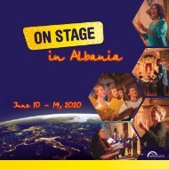 ON STAGE Albania 2020 - Brochure