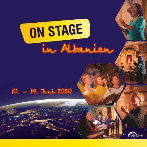 ON STAGE Albanien 2020 - Broschüre