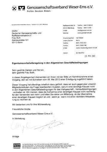 ® Genossenschaftsverband Weser-Ems e.V.