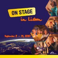 ON STAGE Lisbon 2020 - Brochure