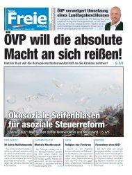 ÖVP will die absolute Macht an sich reißen!