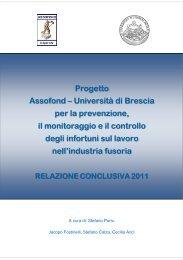 Progetto Assofond - Università di Brescia - Relazione Conclusiva 2011