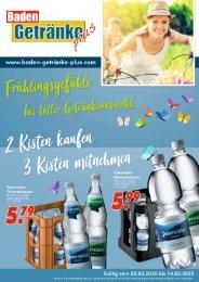 Baden Getränke Plus März