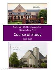 CHCA Upper School Course of Study 2020-2021