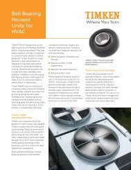 Ball Bearing Housed Units for HVAC - Timken