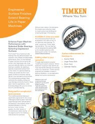 Engineered Surface Finishes Extend Bearing Life in Paper ... - Timken