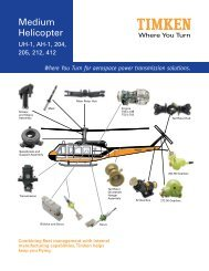 Where You Turn for aerospace power transmission solutions. - Timken